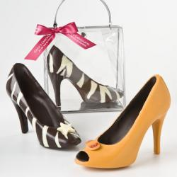 Chocolate Item - Zebra-Print or Orange with Peak Toe High Heel Shoes